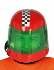Capacete piloto fórmula 1 vermelho criança