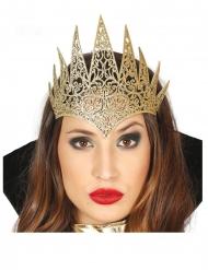 Diadema rainha ímpia dourado adulto