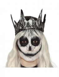 Coroa rainha maléfica látex prateado adulto