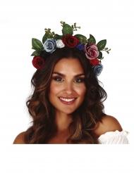 Coroa de flores escuras