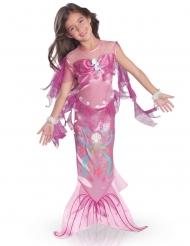 Disfarce sereia dos mares rosa menina