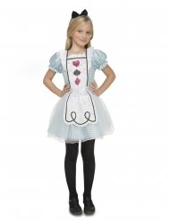 Disfarce Alice maravilhosa menina