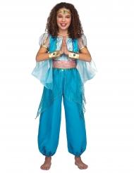 Disfarce princesa oriental turquesa menina