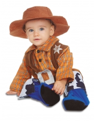 Disfarce com chapéu cowboy bebé