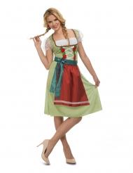 Disfarce vestido oktoberfest verde mulher