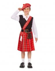 Disfarce pequeno Escocês menino