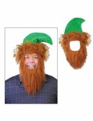 Chapéu com barba leprechaun adulto
