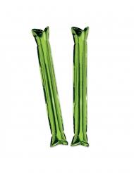 Páus insufláveis verde metalizado
