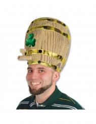 Chapéu barril de cerveja com trevos adulto
