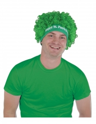 Peruca afro verde Happy Saint Patrick