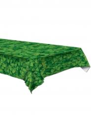 Toalha de plástico verde com trevos 137 x 274 cm