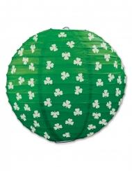 Lanterna em papel verde com trevos 24 cm