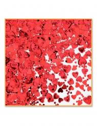 Confetis de mesa corações vermelhos metalizados 14 gr