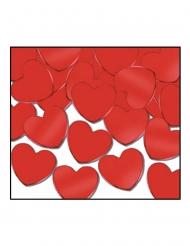 Confetis de mesa corações vermelhos 28 gr