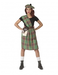 Disfarce escocesa verde mulher