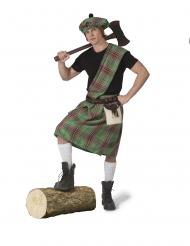 Disfarce escocês verde homem
