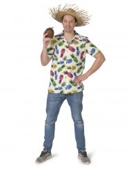 Camisa com padrão ananás homem
