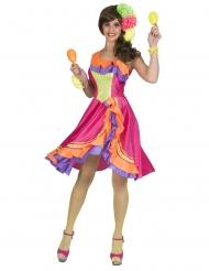 Disfarce vestido dançarina de rumba mulher
