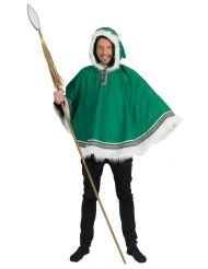 Poncho esquimó verde homem