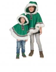 Poncho esquimó verde bebé