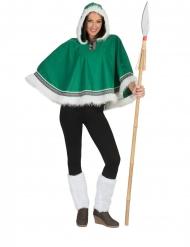 Poncho esquimó verde mulher