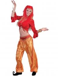 Top dançarina vermelho mulher