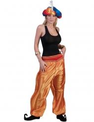 Calças douradas dançarina mulher