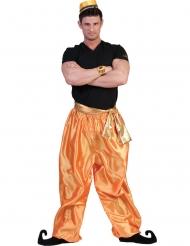 Calças douradas dançarino homem