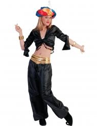 Top preto dançarina mulher