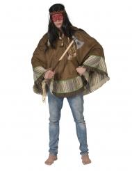 Poncho índio luxo adulto