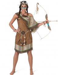 Disfarce vestido índia luxo mulher