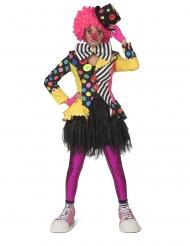 Casaco palhaço multicolor mulher