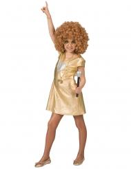 Disfarce Vestido Disco dourado mulher
