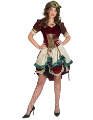 Disfarce vestido steampunk aventureira mulher