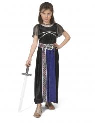 Disfarce vestido guerreira menina