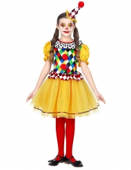 Disfarce palhaço colorido menina