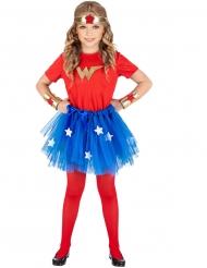 Disfarce super heroína menina