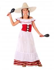 Disfarce mulher Mexicana menina