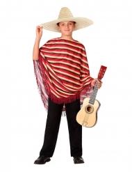 Disfarce de Mexicano com poncho menino