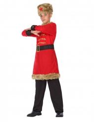 Disfarce militar exército russo menino