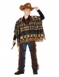 Disfarce de cowboy com poncho menino