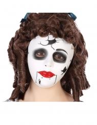Máscara boneca fissurada adulto