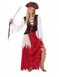 Disfarce pirata dos mares adolescente