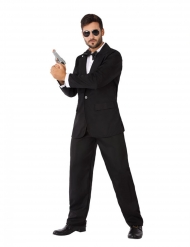 Disfarce agente secreto em smoking homem