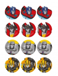 12 Decorações em açúcar para biscoitos Transformers™ 5.8 cm