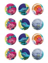 12 Decorações de açúcar para biscoitos Trolls™ 5.8 cm