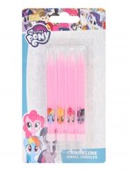 4 Velas de aniversário My Little Pony™ rosa 9 cm