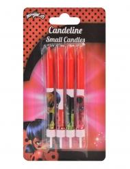 4 Velas de aniversário Ladybug™ vermelho 9 cm