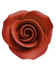 8 Pequenas rosas decorativas em açúcar vermelho 3.3 cm