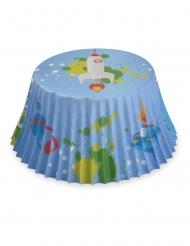 50 Formas de cupcake em papel foguete astronauta 7 cm